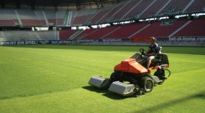 Jacobsen mower for Austrian multi-use sports stadium