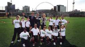 New FA Chairman David Bernstein opens new school sports site