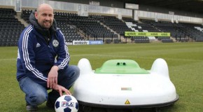 Robot mower gives Rovers a cutting edge at The New Lawn